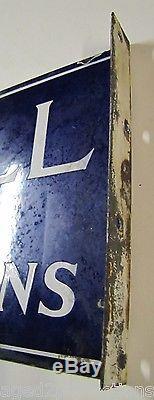 Signe De Publicité Imprimé Modèle Antique Des Années 1930 Mccall En Porcelaine À Double Face