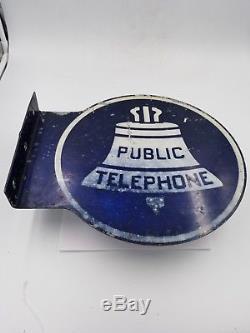 Signe Ks-16597 L1 De Téléphone Public Vintage À Bride Double