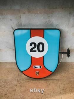 Signe Latéral Double Illuminé De Porsche Gulf Des Années 2000