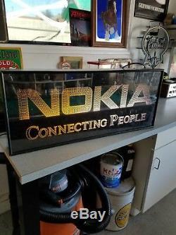 Signe Lumineux Rétro-éclairé Vintage De L'art Moderne Nokia Pour Homme
