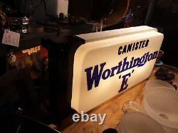 Signe Lumineux Vintage De Bidon Double Face Worthington E