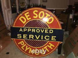 Signe Original De Porcelaine À Double Face De Service De Plymouth De Soto