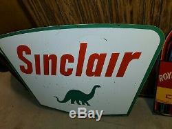 Signe Porcelaine Vintage Sinclair 42 X 60 Double Face
