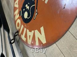 Signe Vintage Clés National Made, Avec Support, Original, Bilaterale