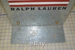 Signer La Publicité Double Face Galvanisé Ralph Lauren Polo Jeans Pantalon Vintage