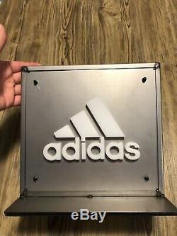Signes En Relief De Publicité D'affichage De Magasin Rare D'adidas / Double Face
