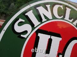 Sinclair Essence Hc Dsp Porcelaine Double Face Panneau D'origine 6 Ft Rond Vintage