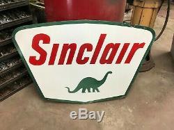 Sinclair Essence Large, Enseigne De Commerçant En Porcelaine À Double Face, (datée De 1961)