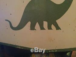 Sinclair Gas Oil Double Sided Porcelaine Signe