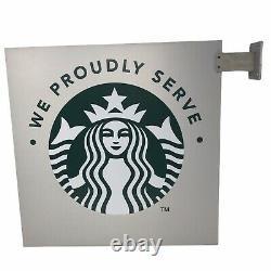 Starbucks Publicité Plaque Métallique Retail Nous Servons Fièrement Siren Double Face