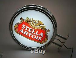 Stella Artois Beer Pub Double Face Bar Mur Connectez-vous Rare Lumière