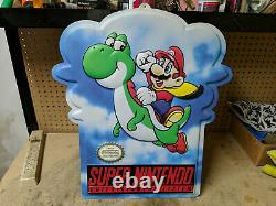 Super Nintendo Store Sign Super Mario Yoshi Snes Double Face