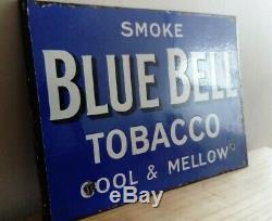 Tabac De Bluebell De Signe D'émail De La Publicité Originale De Magasin À Double Face