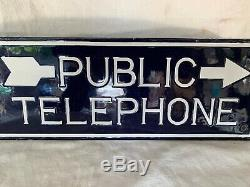 Téléphone Public À Clochettes Double Face, Années 1920, En Porcelaine, Système At & T