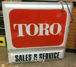 Toro Double Sided Hanging Or Fixed Mount Lighted Dealer Sign Local Pick Up