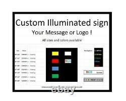 U Haul Enseigne Led Enseigne Boîte De Signalisation 12x48x2 Inc