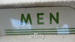 Une Paire De Texaco Hommes Restroom Double Face Station Métal Oil Gas Signe Art Déco