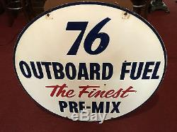 Union 76 Porcelain 42 Signe Double Face Outboard Bateau Essence Regarder La Vidéo