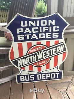Union Pacific Chicago Étapes Double Face En Porcelaine Connexion