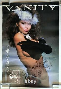 Vanity Skin On Skin 1986 Motown Signé Affiche À Double Face Denise Matthews