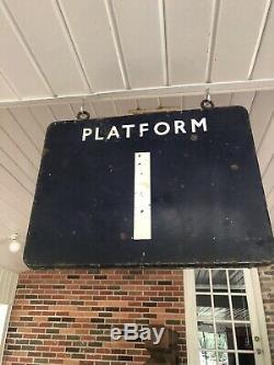 Vieille Gare Railroad Quai De Métro 1 Connectez-vous Double Face Porcelain Rr Adv