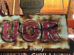 Vieux Vintage Liquor Double Face Enseignes Lumineuses Antique Patine Pub Bar Mancave Taverne