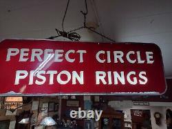 Vintage 1940s Perfect Circle Bagues À Piston Double Face Lumière Jusqu'à 3 Ft X 1 Ft X 3