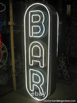 Vintage 1960's Bar Double Sided Neon Sign / Metal Can Antique Collection