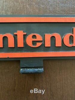 Vintage 1988 Nintendo Double Sided Affichage En Plastique Dur Série M Enseigne