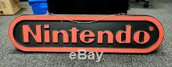 Vintage 4 Pieds Nintendo Double Face Hanging Magasin Afficher Promotion Signe Nes