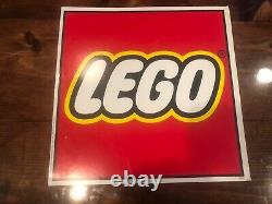 Vintage 90s Retail Lego Logo Display! Signe Double Face! Kb Toys Publicité