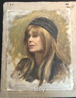 Vintage Albert Wasserman New York City Art Studio Double Face Peinture Asl Wpa