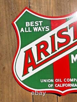 Vintage Aristo Motor Oil Double-sided Flange 14 X 12 Flange Porcelaine Signal