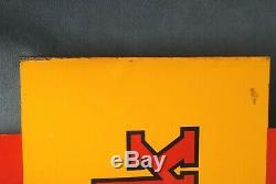 Vintage Authentique Grand Double Face Metal Kodak Concessionnaire 24 X 18 Sign (pk)