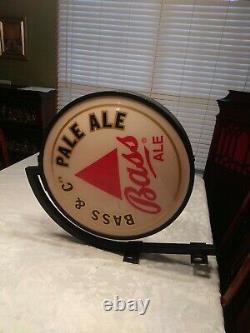 Vintage Basse & Cos Pale Ale Bar Sign Double Sided Light Up Pub Sign