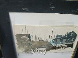 Vintage C. Robert Perrin Nantucket Double-sided Signed Original Painting Main St