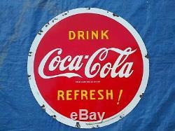 Vintage Coca Cola Double Sided Porcelaine Lollipop USA 1941 Connectez-vous