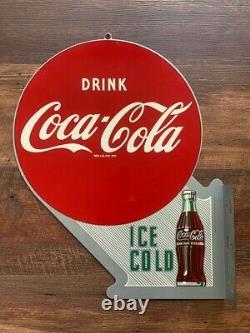 Vintage Coca-cola Coke Double Face Plaque De Bretelle Limitée Réédition Rare Collectable