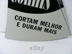 Vintage Collins Legitimus Hache En Forme De Signe En Porcelaine À Double Face. Pièce Rare