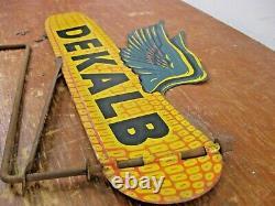 Vintage Dekalb Maïs Semis Agriculture Panneau Double Face Temps Vane