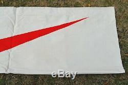 Vintage Double Face Nike Canvas Magasin Afficher Sign 1990 Grand 84x28 Rare Og