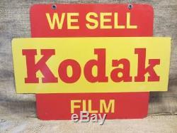 Vintage Eastman Kodak Photographie Double Face Panneau Photographie Antique Rare 9868