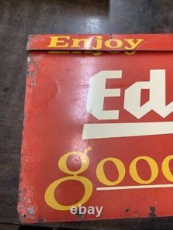 Vintage Eddys Pain Double Face Publicité Panneau Original
