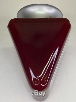 Vintage Exit Sign Ceiling Light Fixture Ruby Red Movie Theater Double Face