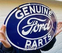 Vintage Ford Pièces D'origine Porcelaine Signe Double Face Chicago