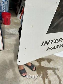 Vintage International Harvester 30 Double Face Nos Blem Porcelaine Signe Dernier 1