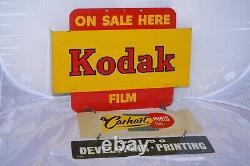 Vintage Kodak En Vente Ici-film Double Face Peint En Émanel