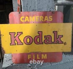Vintage Kodak Films Double Sided Promotional Sign Des Années 1950