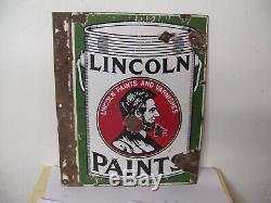 Vintage Lincoln Peintures À Double Face Porcelain Bride Signe 20 X 15