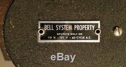 Vintage Lumineux Bell Systems Enseigne Téléphonique Double Face Art Déco Vers 1940